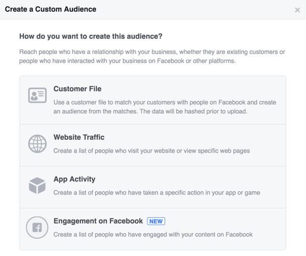 Creat a custom audience