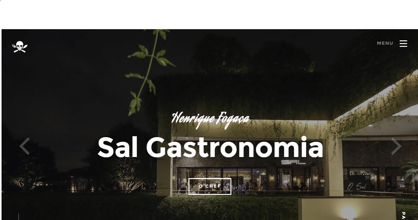 montar site marketing gastronomia