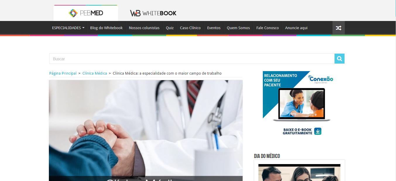 divulgar marketing site médico