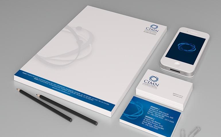 logotipo cartão de visita marketing médico
