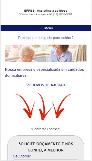 marketing criação de site Para Cuidador De Idosos