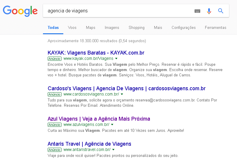 marketing digital para agencia de viagens