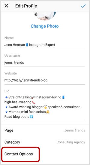 adicionar um botão de ação no Instagram
