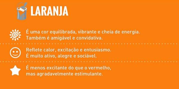 significado das cores laranja