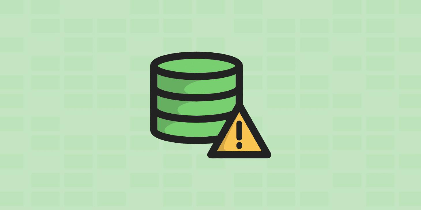 Erro Ao Estabelecer Uma Conexao Com O Banco De Dados