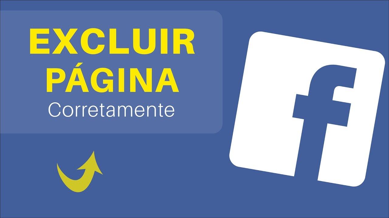 Como excluir uma página no Facebook
