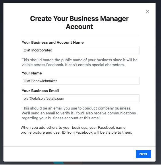 Gerenciador de negócios Facebook Passo a Passo 2