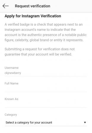 Como ter conta verificada no Instagram 5