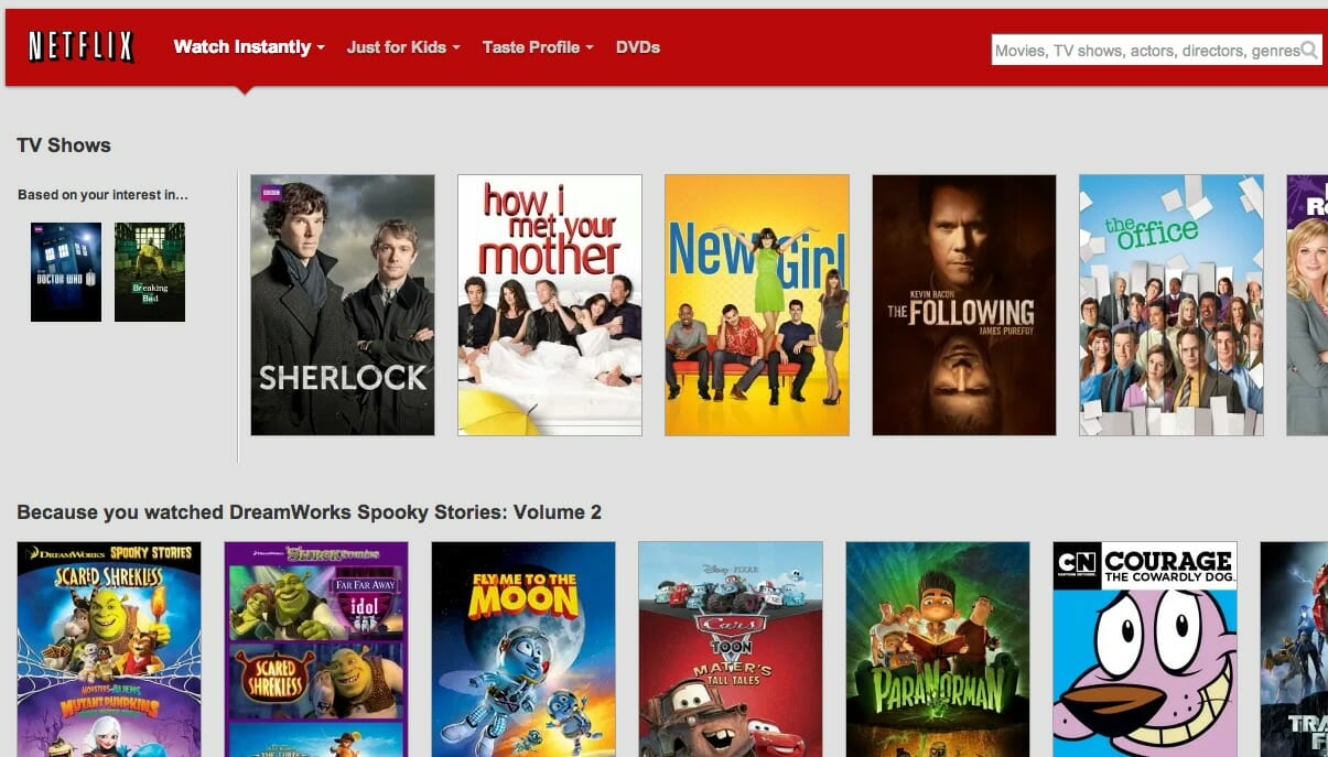 Recomendações Netflix
