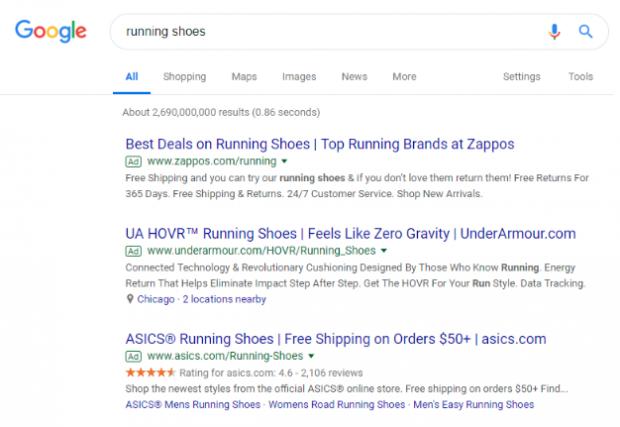 Anúncios da rede de pesquisa do Google