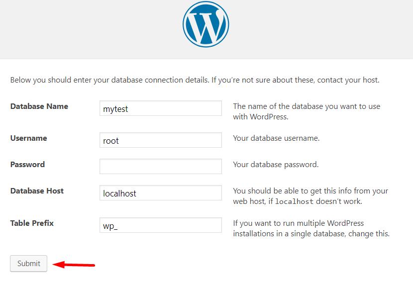 Configurações do WordPress