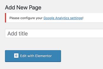 como editar uma nova página com Elementor
