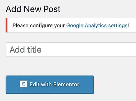 como editar uma nova postagem com Elementor