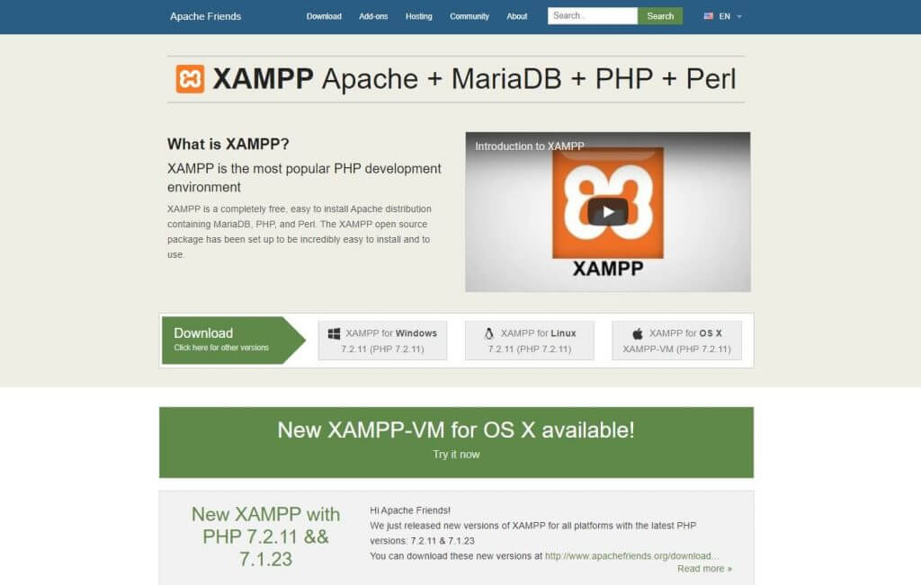 Como fazer o download do xampp