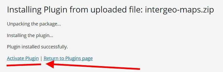 instalação do plugin completa