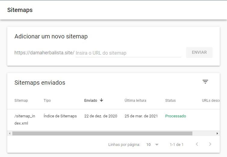 Adicionando Sitemap Ao Search Console Do Google