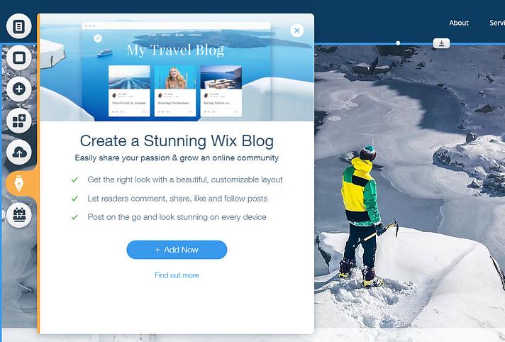 Adicionar blog
