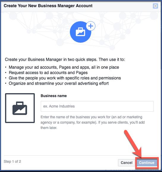 Criar Uma Conta De Business Manager