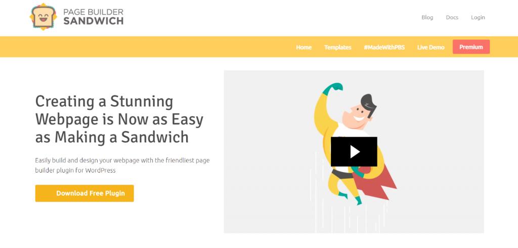 Construtor de páginas de WordPress Sandwich