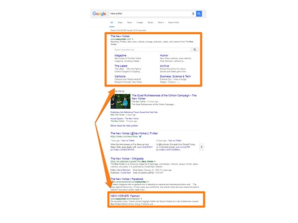 Sitelinks Para O Primeiro Lugar Da Serp Do Google