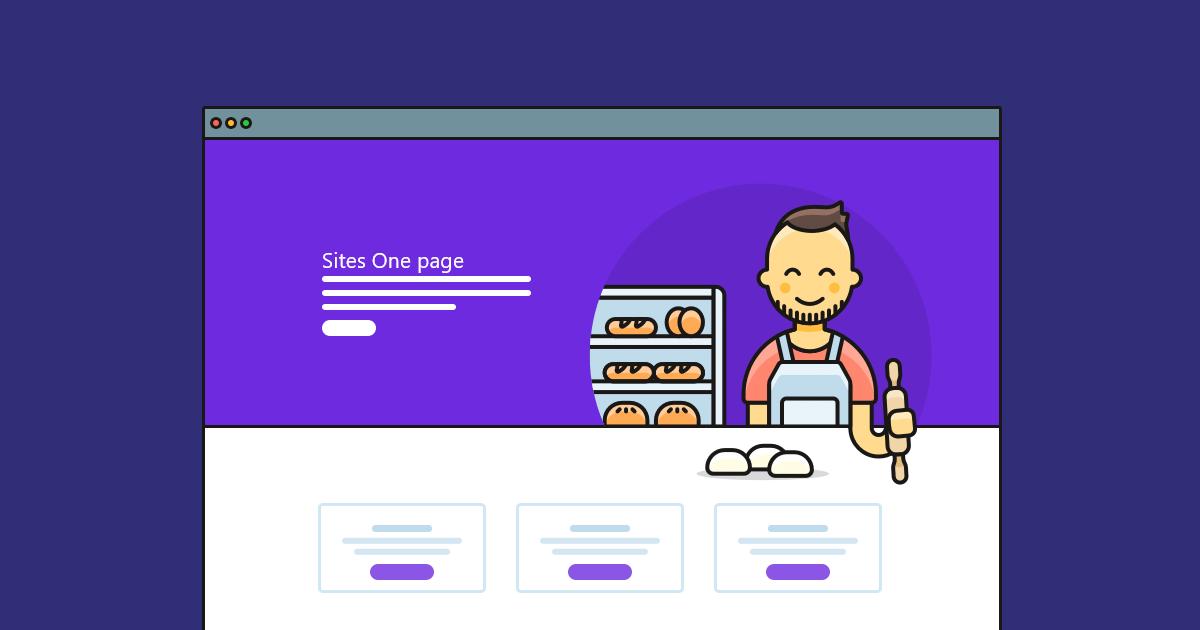 O Que E One Page Site